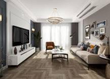 Herringbone Wooden Floor.