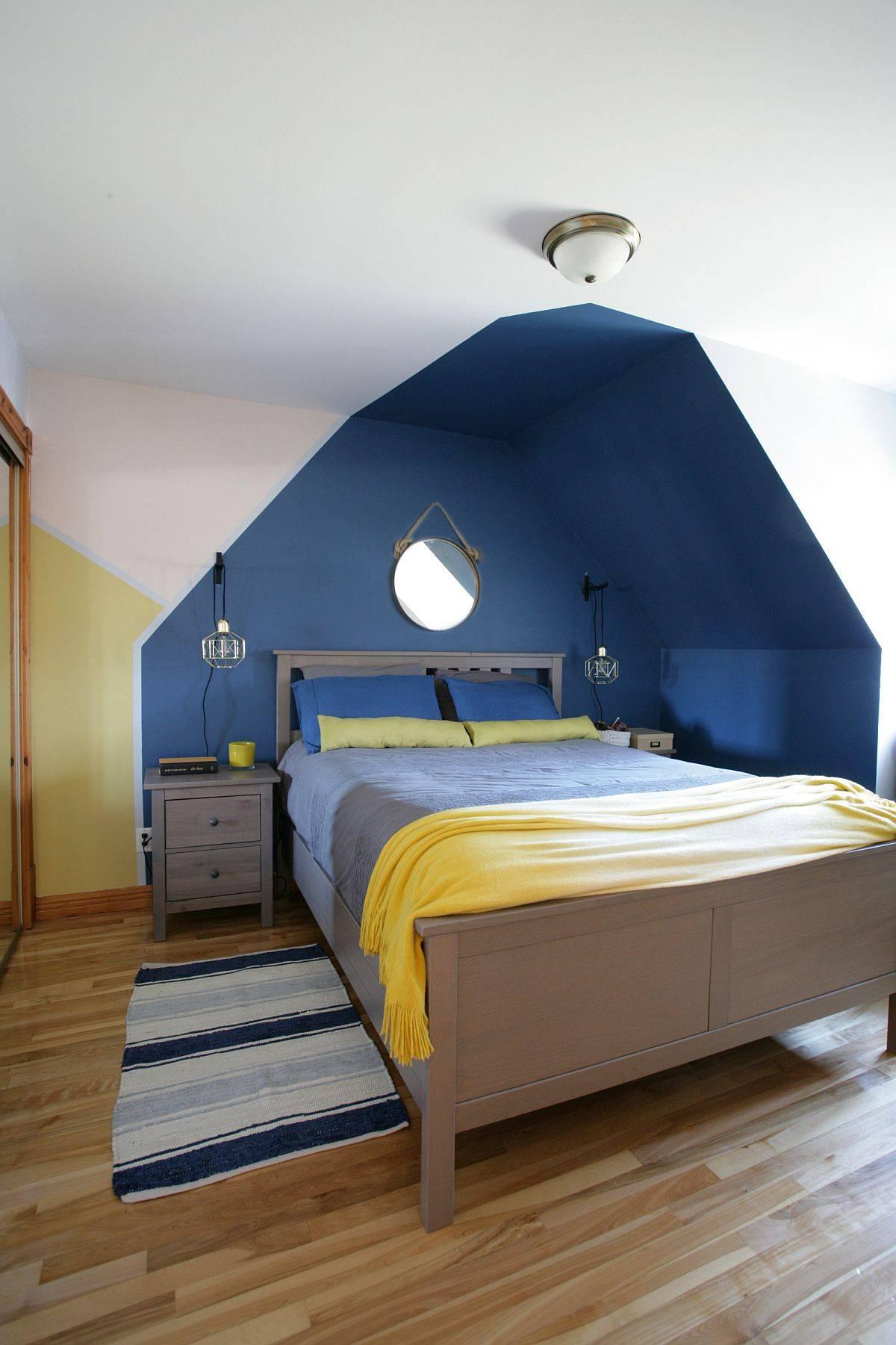 Ingenious-Scandinavian-style-bedroom-in-blue-and-yellow-52580