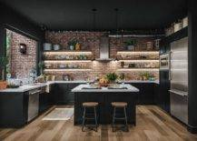 LED-strip-lights-under-the-floating-wooden-shelves-add-to-the-modern-industrial-style-of-this-kitchen-26993-217x155