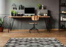 Minimalist Office With a Dark Color Theme