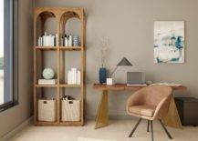 Modern Home Office With Earthy Colours