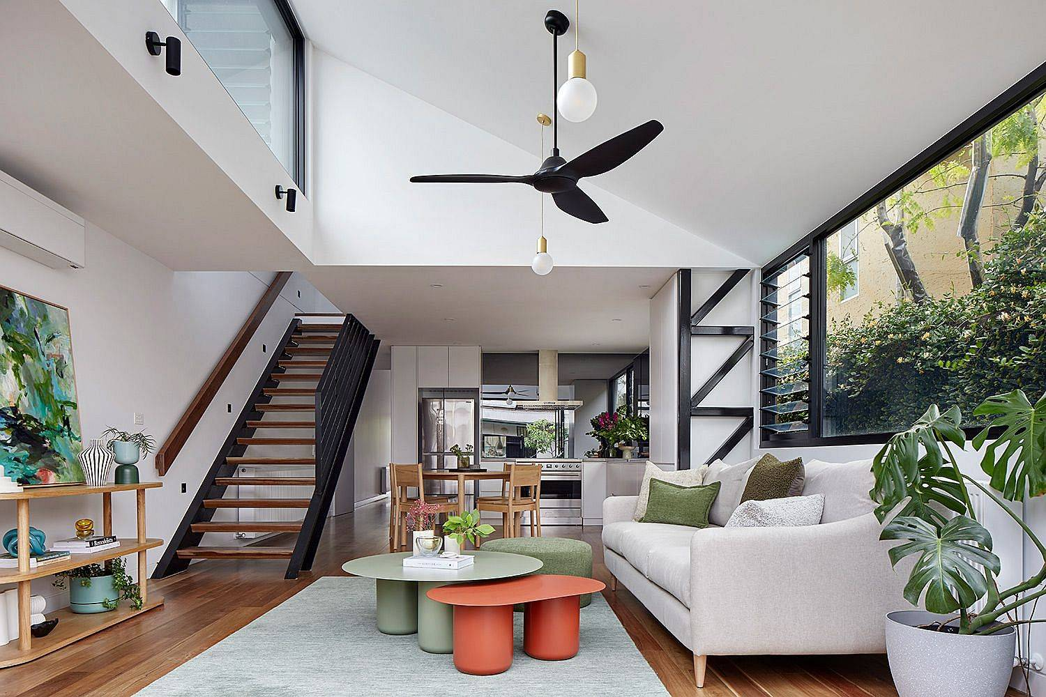 Neutral-colors-coupled-with-wooden-floor-create-a-gorgeous-contemporary-living-room-45938