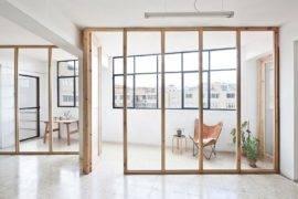 Custom Walls in Wood and Glass Create New Dynamic Inside Smart Barcelona Studio
