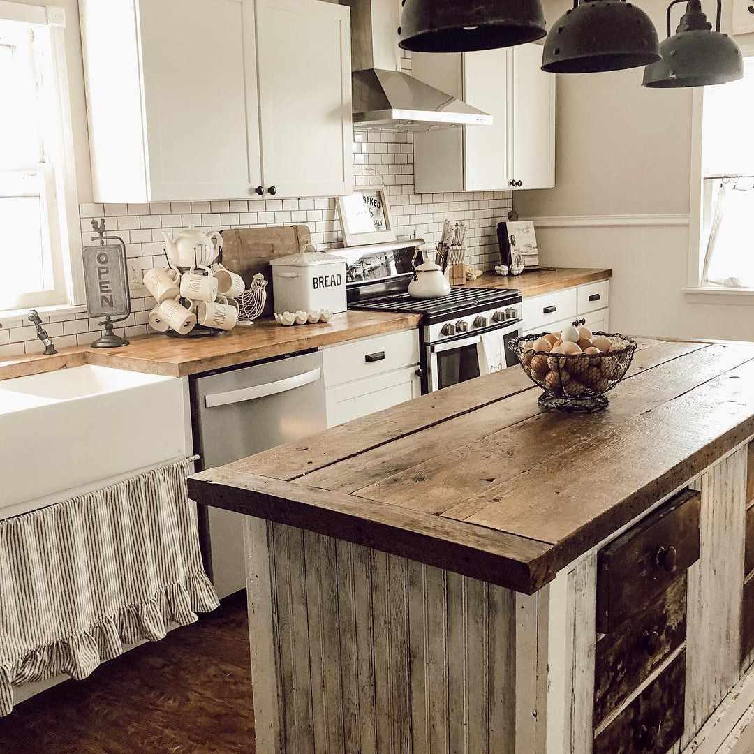 Old-Fashioned Kitchen Island