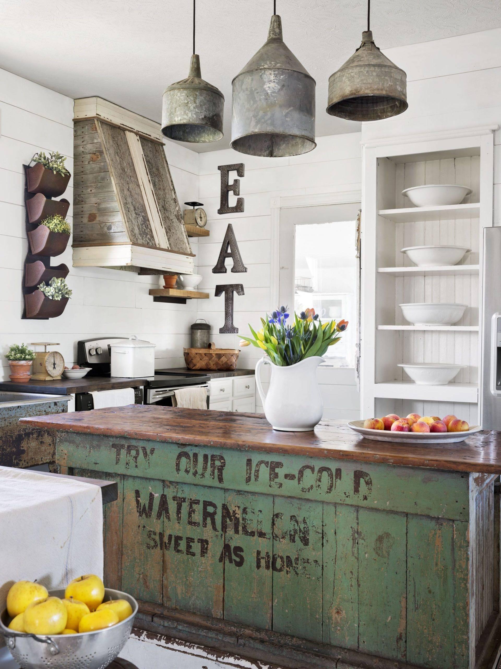Old-Fashioned Kitchen Island.