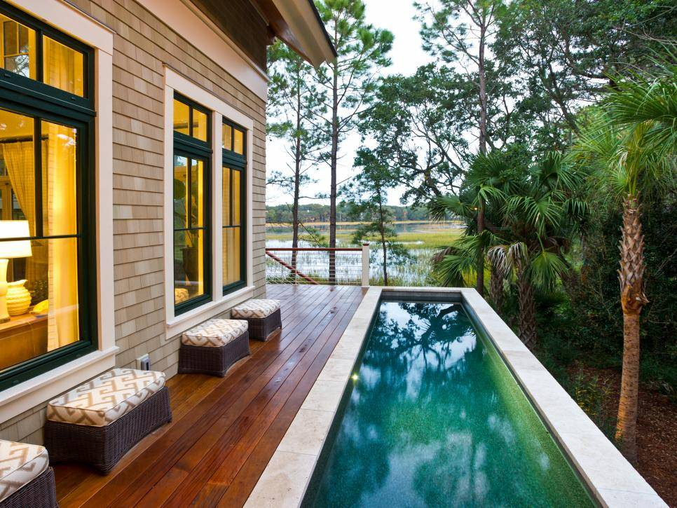 One-Sided Wooden Deck