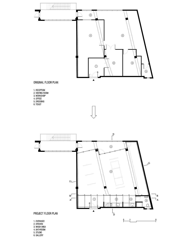 Original-and-renovated-floor-plan-of-Studio-for-Artist-Victor-Perez-Porro-in-Barcelona-29891