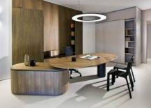 Oval Wooden Desk.
