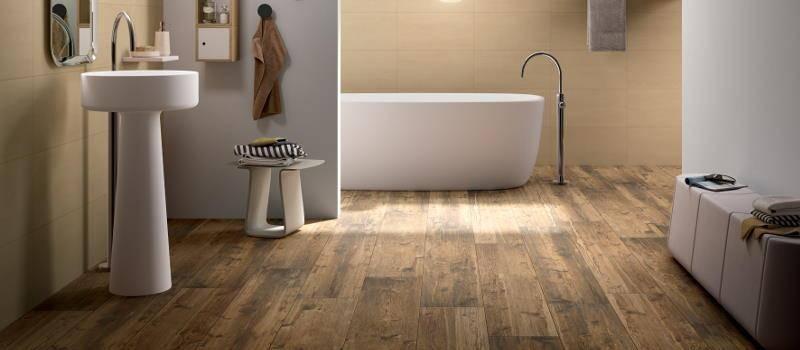 Plank Like Wood Tile Bathroom