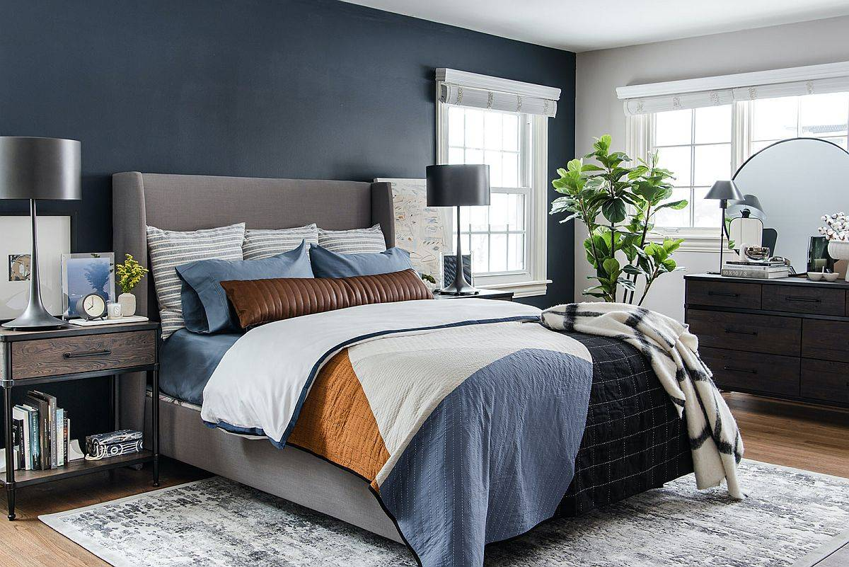 Polished-charcoal-gray-accent-wall-for-the-white-and-gray-modern-bedroom-69150
