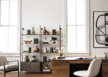 Rustic Inspired Office With Cowhide Rug