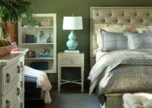 Rustic-bedroom-with-shiplap-vaulted-ceiling-and-fabulous-dark-green-walls-46122-217x155