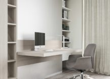 Simple Designed Office With Open Shelving