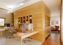 Stylish Office With Wooden Walls