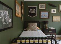 Walls-decorated-with-framed-art-pieces-in-the-dark-green-modern-bedroom-62010-217x155