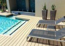 Wood Deck with Wooden Planters
