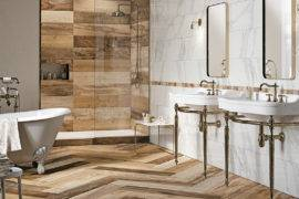 Expand Your Design Horizons With These Wood Tile Bathroom Ideas