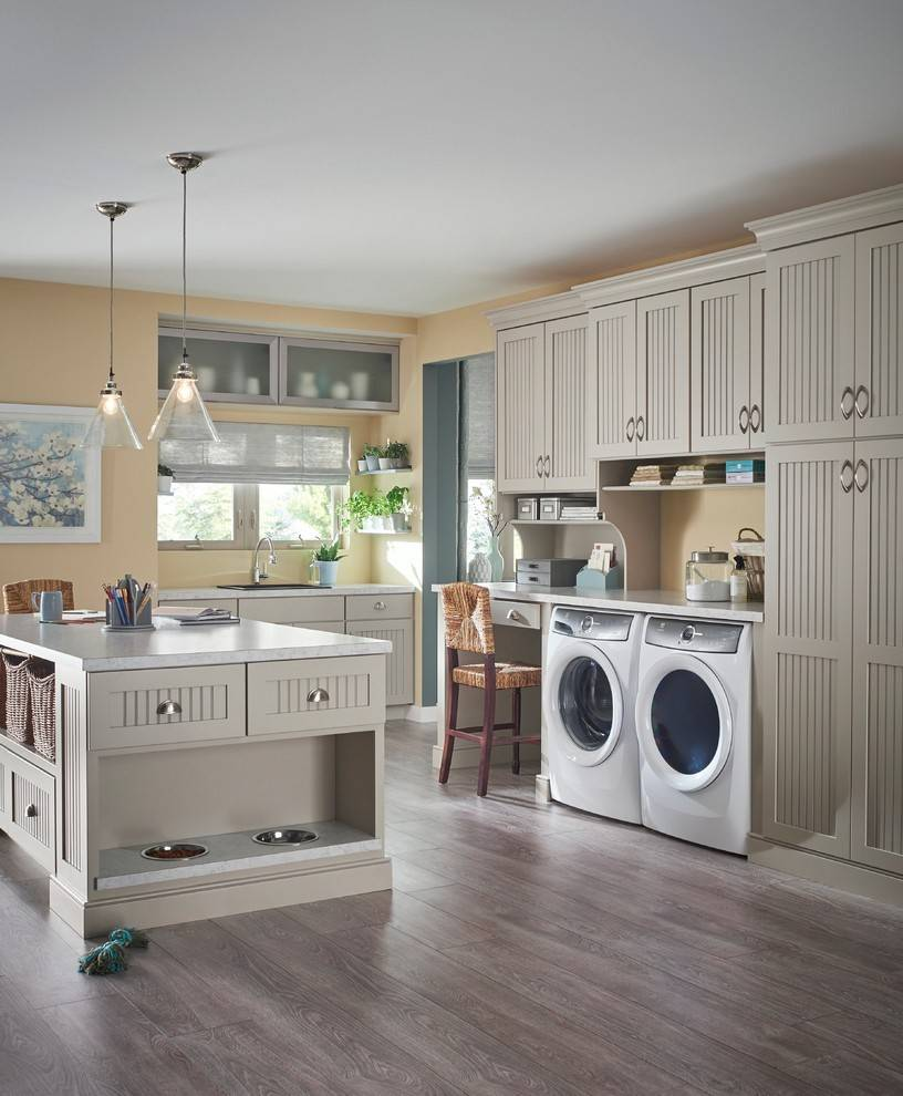 Island in laundry room