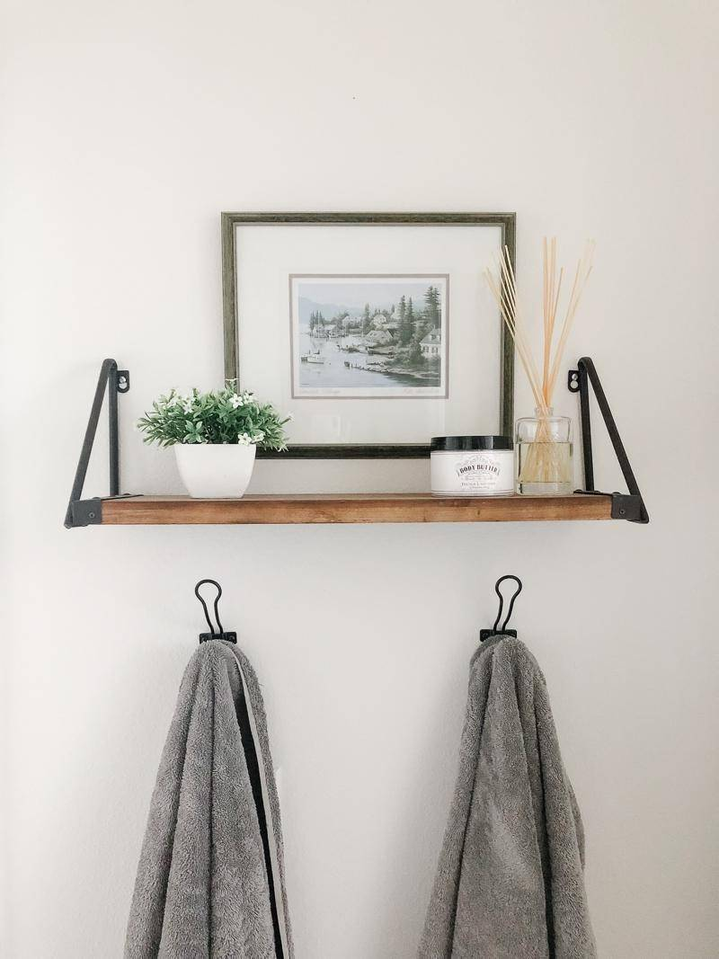 Towels hanging on a wall