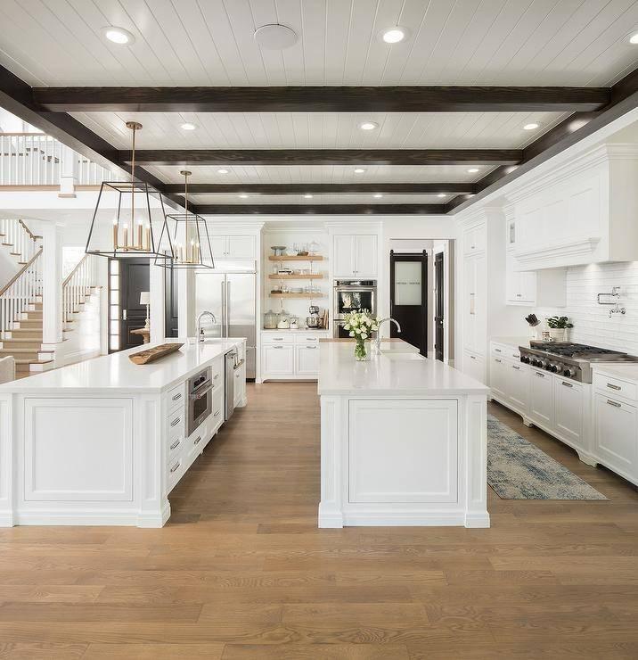 double kitchen island setup