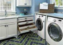 Laundry storage with drawers