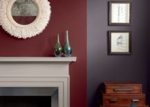 Two-toned accent wall