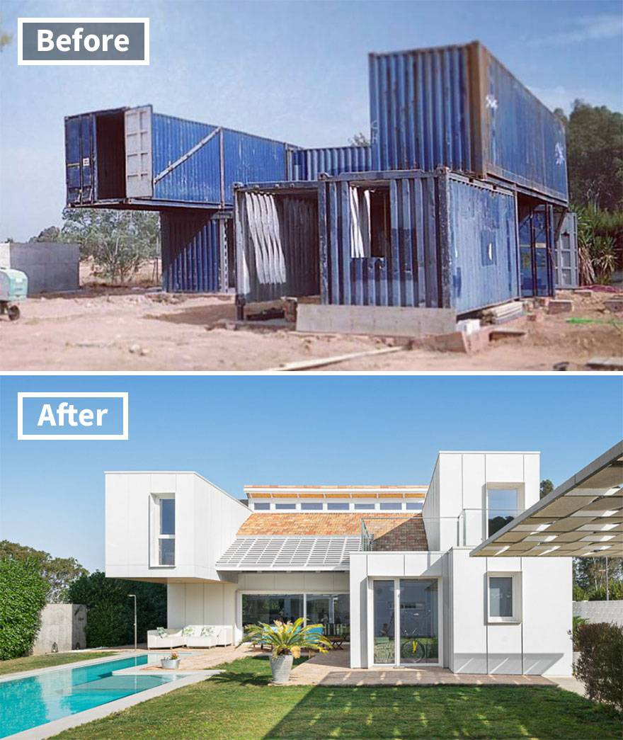 container home before and after in Seville