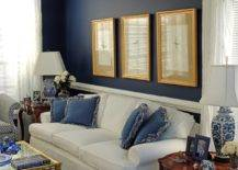 Navy and white room