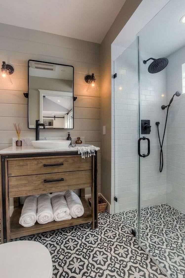 Wooden sink and vanity area
