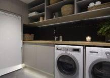 Slate floors in laundry room