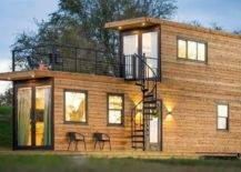 wooden panelled container home