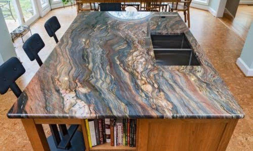 riverbed multicolor granite countertop