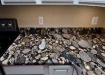 River bed granite countertops
