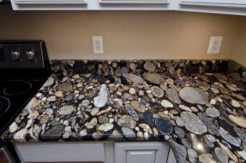 River bed granite countertops for kitchen