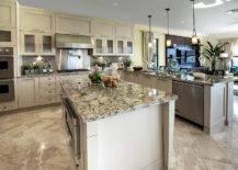 light neutral granite in kitchen