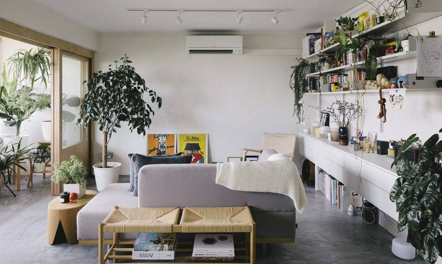 Small Apartment for Single Living is Transformed into a Cheerful Family Home