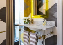 Bold-wallpaper-in-black-an-white-brings-intrigue-and-pattern-to-this-small-contemporary-bathroom-44057-217x155