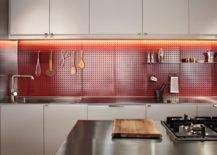 Custom-pegboard-backsplash-in-the-kitchen-also-adds-a-lovely-dash-of-bright-red-to-the-contemporary-space-62295-217x155