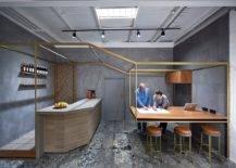 Desain-dapur-dan-ruang makan-kontemporer-dengan pesona-logam-sentuhan-84596-217x155