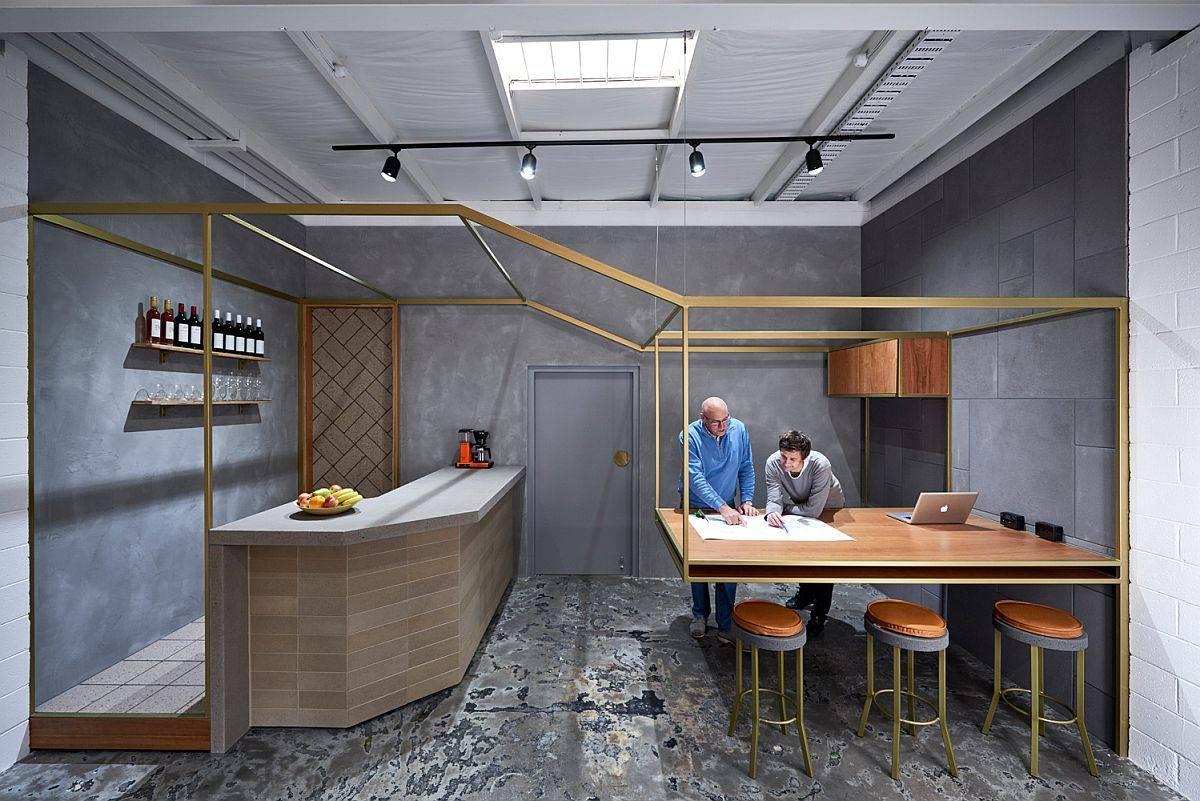 Desain-dapur-dan-ruang makan-kontemporer-dengan pesona-sentuhan-logam-84596