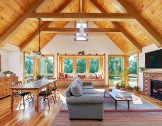 Dashing Modern Makeover of Classic Timber-Frame House in Gwynedd Valley