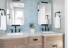 Gorgeous-hexagonal-tiled-blue-backsplash-for-the-small-beach-style-bathroom-47375-217x155