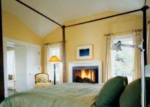Grasscloth-wallpaper-in-yellow-and-bedding-in-green-bring-color-to-this-cozy-bedroom-73229-217x155
