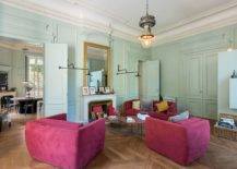 Light-pastel-greens-coupled-with-hot-pinks-in-the-goregous-contemporary-living-room-of-French-home-32403-217x155