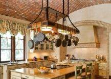Lighting-si-combined-beautifully-with-the-pot-rack-in-this-expansive-Meidterranean-kitchen-71385-217x155