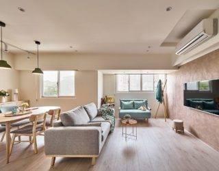 Contemporary Refurbishment of Small Apartment in Taipei: Refined Elegance