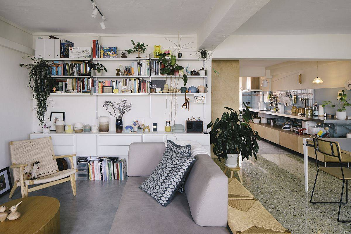 Open-plan-living-area-kitchen-and-dining-space-of-the-space-savvy-renovated-apartment-in-Singapore-99073