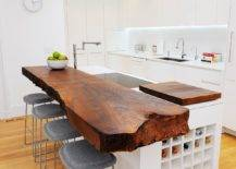 Polished-contemporary-kitchen-in-white-and-wood-with-a-farbulous-live-edge-breakfast-bar-55121-217x155