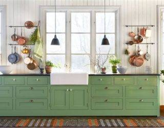 Space, Style and a Whole Lot of Sparkle: Pot Racks and Rails Revamp Kitchen Storage