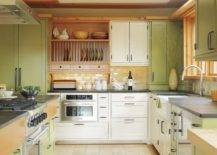 Trendy-contemporary-kitchen-in-yellow-and-green-with-midcentury-touches-41234-217x155